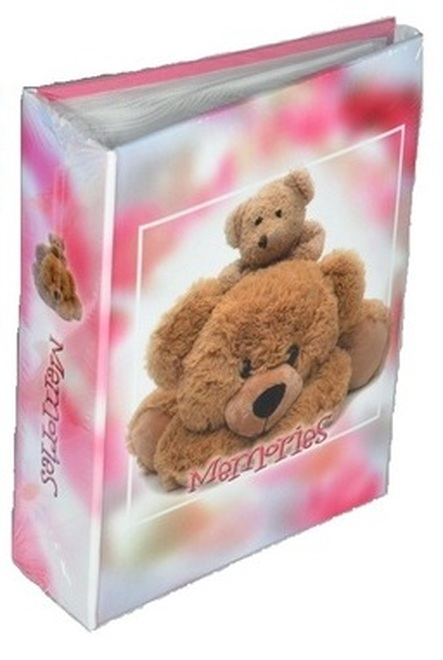 HAPPY TEDDY PINK    O200  10x15