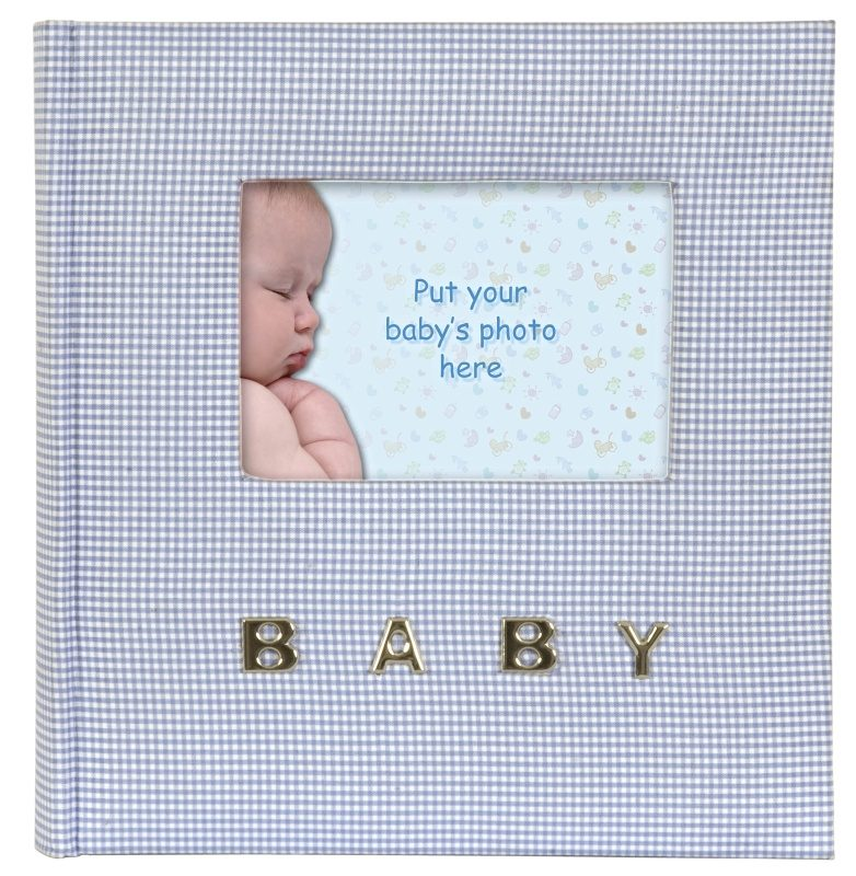 Q93 BABY GINGHAM BLUE BB 100 10x15