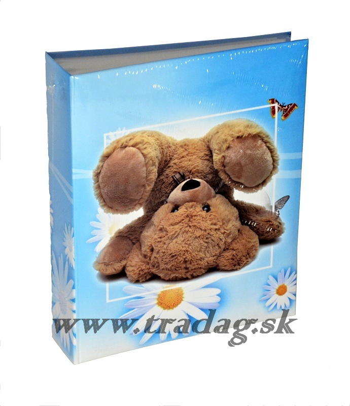 HAPPY TEDDY BLUE    O200  10x15