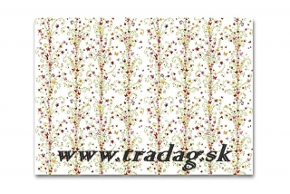Baliaci papier Flower red 50x70cm