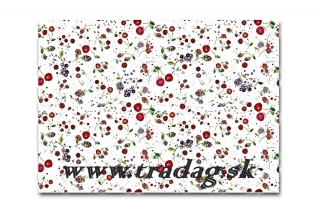 Baliaci papier Fruits white 50x70cm